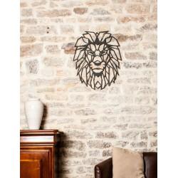 décoration lion mur