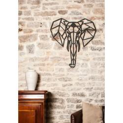 Elephant origami wall art