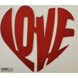 Coeur PVC rouge