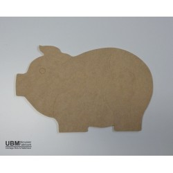 Cochon à décorer en bois composite