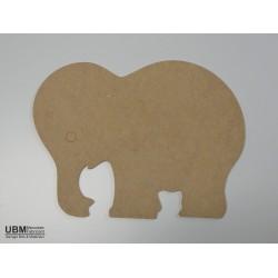 Eléphant à décorer en bois composite