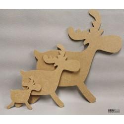 Eclair le caribou à décorer
